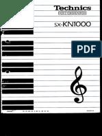Technics Kn1000 User Manual