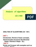 1-Analysis and Design f Algorithms