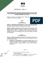 Lemon law IRR Department+Administrative+Order+No.+14-3