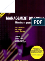 Management du sport- Théories et pratiques Par Eric Barget-Daniel Vailleau