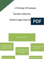 Internal Findings of Autopsy