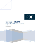 CS5558 + CS5568 Software Project Planning and Control Assignment 3