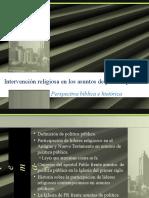Intervención Religiosa en Asuntos de Política Pública
