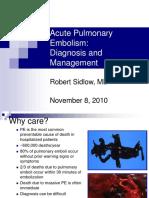 Acute Pulmonary Embolism Overview 2