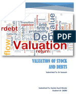 CF-Valuation of Stock and Debt