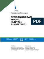 Modul 5 Capital Budgeting