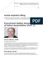 Functional Safety Assessment of Valve Assemblies Part 1