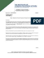 Executive Reg Letter