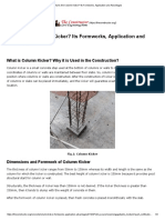 What is the Column Kicker_ Its Formworks, Application and Advantages