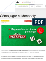 Cómo jugar al Monopoly - Reglas del Monoply