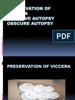 Preservation of Viccera