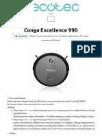 Instrucciones Conga Excellence 990