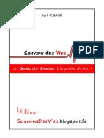Unknown - Les Gestes Qui Sauvent à La Portée de Tous !
