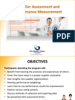supplier assessment and performance measurement