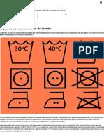 Etiquetas de Instrucciones de Lavado