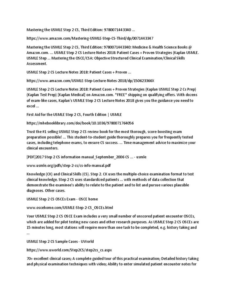 List 1 | United States Medical Licensing Examination | Health