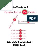 Poster Und Projektbeschreibung Ein Guter Tag Hat 100 Punkte