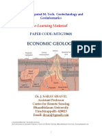 E-learning Material  - Economic Geology