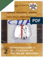 Construccion e Instalacion de Tacos de Madera