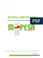 How to Apply and Install M-PESA Certificate - Updated