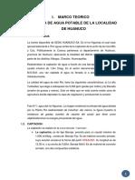 Sistema de Agua Potable y Alcantarillado de La Localidad de Huanuco