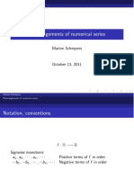 Marion Scheepers Rearrangements of Numerical Series Slides(2)