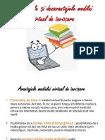Avantajele Și Dezavantajele Medilui Virtual de Învățare PPT Fin