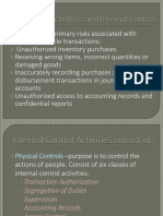 Expenditure Cycle Risks and Internal Controls