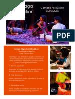 Carnatic Percussion Certification Syllabus