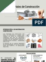 CLASE 1 Introducción Materiales de Construcción