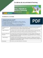 Evaluación de La Rúbrica de Una Actividad eTwinning