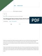 Cara Mengganti Sensor Kertas Printer IP2770, MP287 - Gividia