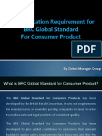 What BRC Documents Require for Consumer Products Certification