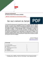 Une étude sur Carlyle Group...