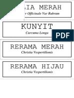 Label Serasi
