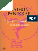 PANIKAR, Raimon, Espiritualidad Hindu. Sanatana Dharma. Barcelona, 2005