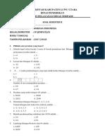 Soal Semester II Kelas 4 Sdn 033 Awo-Awo