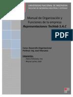 Manual Organización y Función