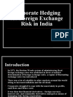 Corporate Hedging for Foreign Exchange Risk in India