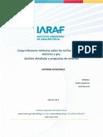 Carga Tributaria Tarifas Propuesta por el IARAF