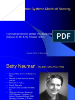 Theory Neumen's Sytem Model of Nursing