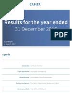 Capita Full Year Results Presentation 2016