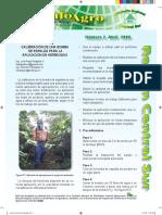 Calibracion de Una Bomba de Espalda Para La Aplicacion de Herbicida
