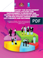 Women in Malaysian Labour Force Study With UNDP-2013