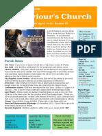 st saviours newsletter - 22 april 2018
