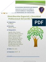 Distribucion Espacial y Distribucion Poblacional de Las Especies Del Jardin Botanico UNMSM