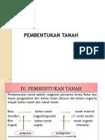 IV. Pembentukan Tanah i (Pelapukan)
