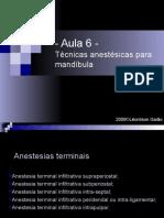 Aula 6_Anestesio_Técnicas anestésicas para mandíbula