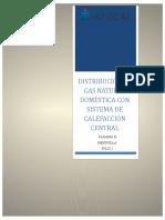Distribución de Gas Natural Doméstica Con Sistema de Calefacción Central