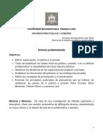 Organizaciones Públicas y Gobierno